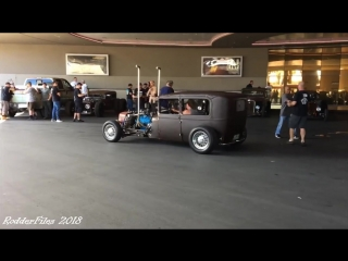 Rat Rods at Stratosphere Las Vegas valet Friday , ready for RatCity Rukkus #rodderfiles