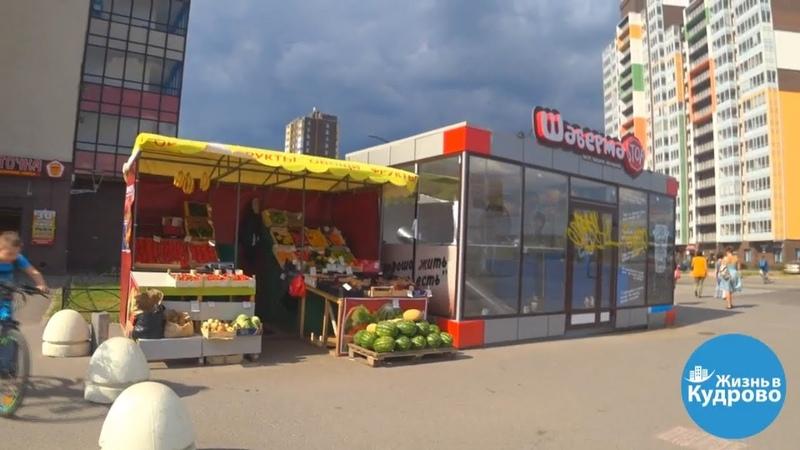 Жизнь в Кудрово торговля на тротуарах