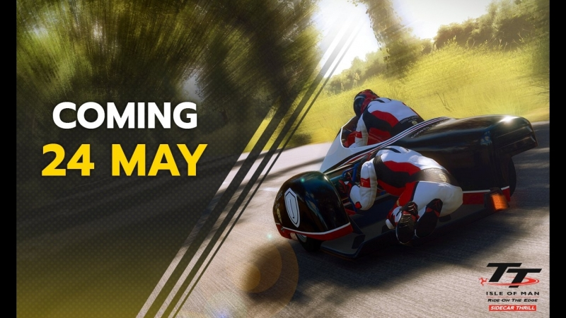 Доступны мотоциклы с коляской в дополнение Sidecar Thrill в игре TT Isle of Man!