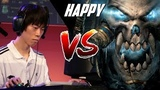 WC3 Moon (Night Elf) vs. Happy (Undead) WCG 2008 G3 Warcraft 3