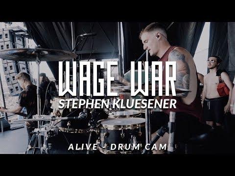 Stephen Kluesener of Wage War (Alive - Drum Cam)