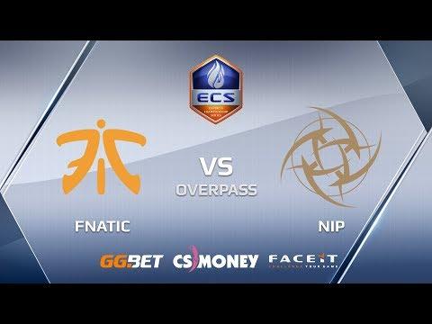 NiP vs fnatic | Overpass | ECS Season 6
