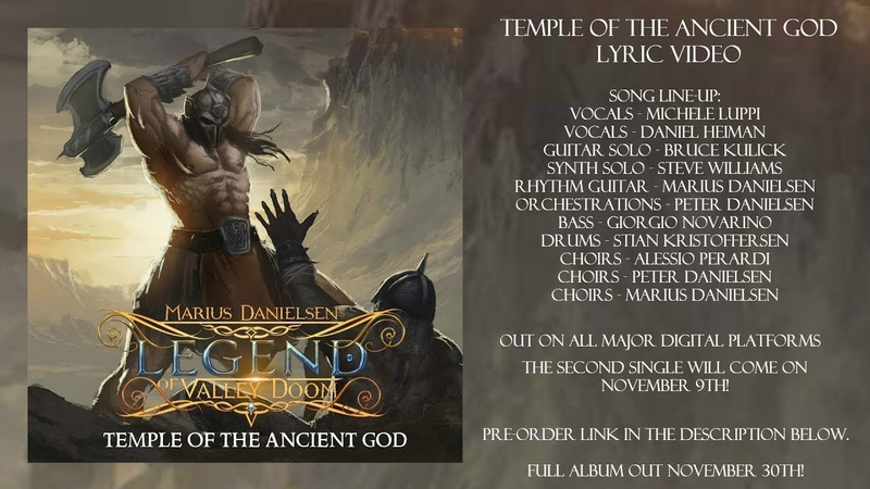Marius Danielsens Legend of Valley Doom - Temple of the Ancient God (Official Lyric Video)