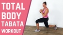 12 Minute Total Body Cardio Tabata Workout – Fat Burning Tabata Exercises At Home – No Equipment