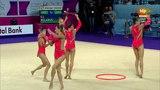 Belarus. 2016 European Rhythmic Gymnastics Championships. EF. Clubs + Hoops