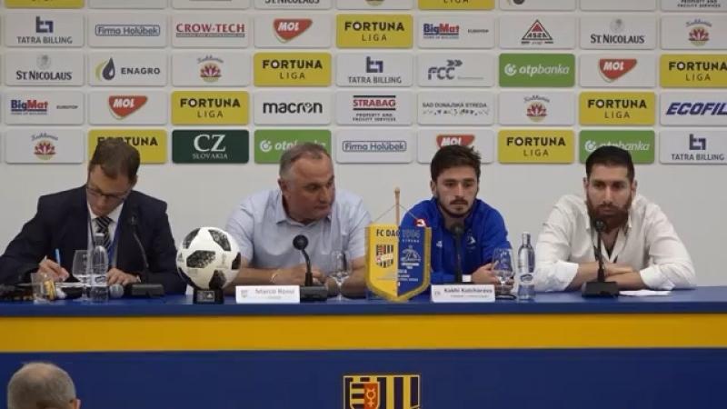 Послематчевая пресс-конференция «Динамо Тбилиси « с участием Кахи Качарава и Отара Китеишвили