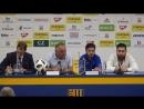 Послематчевая пресс конференция Динамо Тбилиси с участием Кахи Качарава и Отара Китеишвили