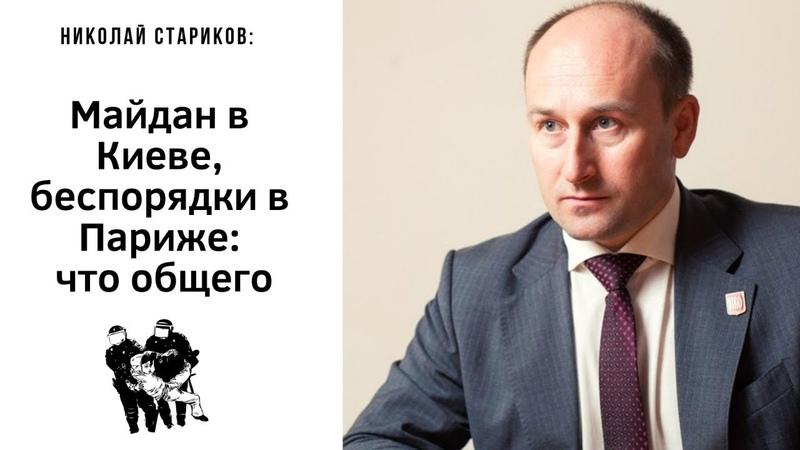 Николай Стариков Майдан в Киеве, беспорядки в Париже – что общего