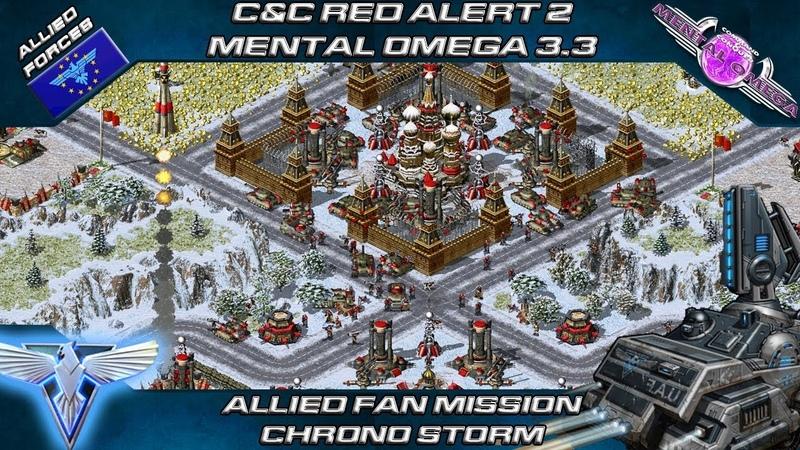 MENTAL OMEGA 3.3.4 - Allied Fan Mission Remake CHRONO STORM [Red Alert 2]