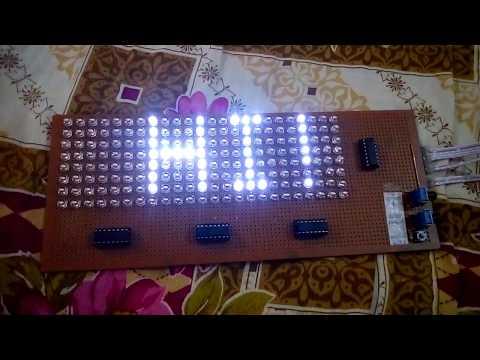 8×24 LED Matrix 4×74HC595 Shift Register | Electronic Projects