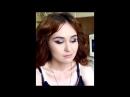 Ксения Саватеева. Фиолетово-серебристые смоки айз и пышные локоны