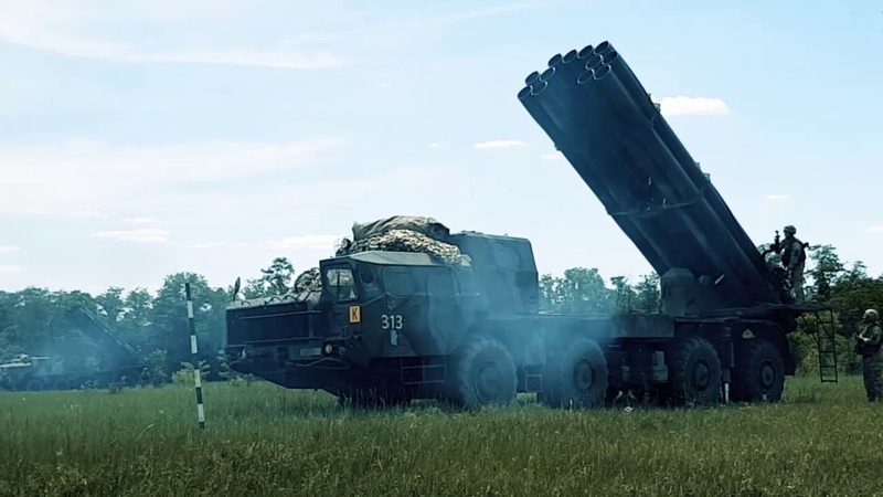В Об'єднаних силах проводиться інтенсивна підготовка бойових розрахунків реактивної артилерії