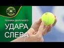 Техника двуручного удара слева. Школа большого тенниса. Урок тенниса.