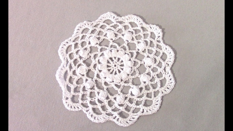 Белый мотив крючком/crochet motif