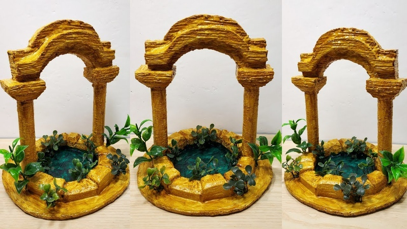 How to make ancient water pond show piece