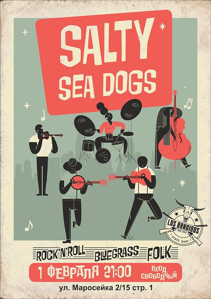 01.02 Salty Sea Dogs в баре Los Bandidos!