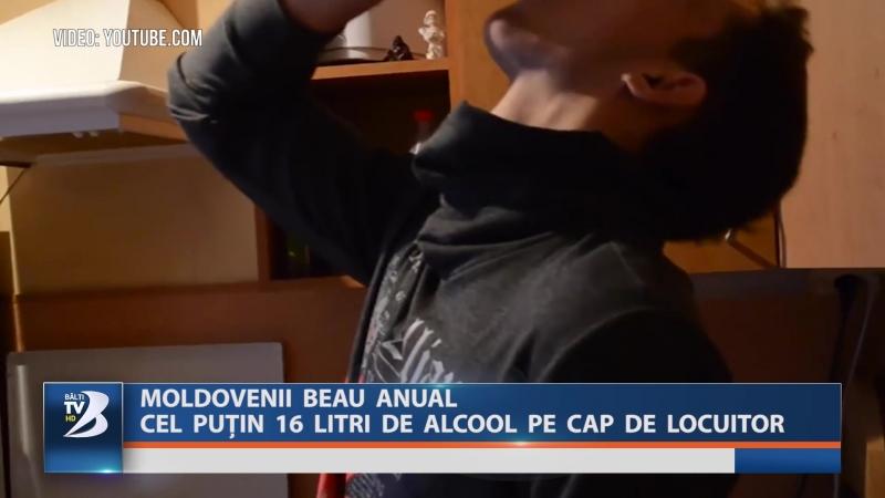 MOLDOVENII BEAU ANUAL CEL PUȚIN 16 LITRI DE ALCOOL PE CAP DE LOCUITOR