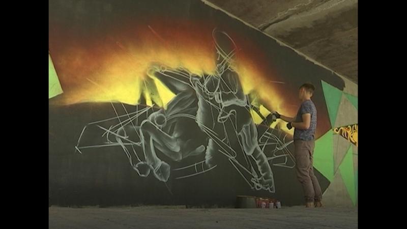Культура народов Сибири через граффити Художники решили раскрасить серые будни улан удэнцев