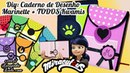 DIY Miraculous: Caderno de DESENHO da Marinette TODOS Kwamis Ladybug Cat Noir | Corujices Da Lu
