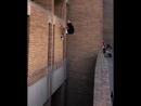 Эффектный прыжок мастера паркура
