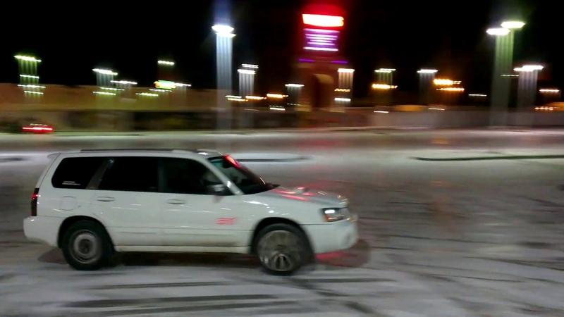 Ice Drift Subaru Forester XTi. Archive 2014.