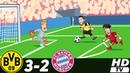 🔥 Боруссия Дортмунд - Бавария 3-2 (Анимация) - Обзор Матча Чемпионата Германии 10/11/2018 HD 🔥