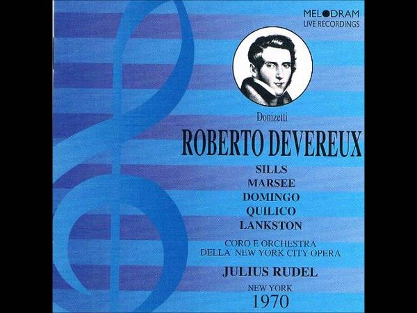 ROBERTO DEVEREUX- SILLS- DOMINGO- LIVE NY 1970