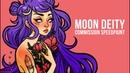 Moon Deity Tattoo Commission Speedpaint Adobe Photoshop