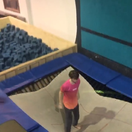 """𝗧𝗼𝗻𝘆 𝗠𝗼𝘀𝗰𝗮 on Instagram """"🐮Guess I can still quad front🗿🗿 🎥 @iancampbell37 ' """" ' """" parkour trampoline tricking flippingfeed freerunning win ..."""