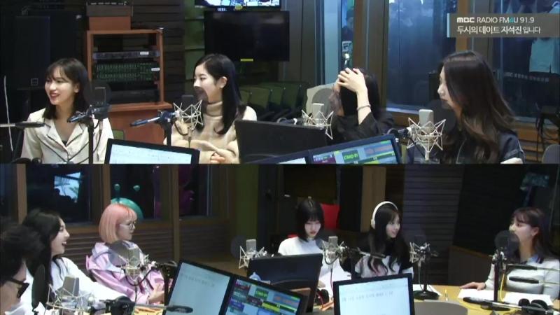 180411 Twice на радио MBC @ FM4U Ji SeokJin's 2 O'clock Date