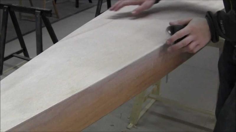 Bau eines Holzkajaks. Lektion 17: Das Deck für das Laminieren vorbereiten