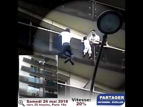 Mamoudou Gassama, un faux héros !enfant soit disant tombé de 2 étages 10ms et 1000 joules !
