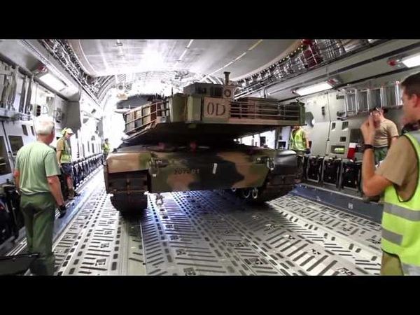 Army M1A1 Abrams airlifted