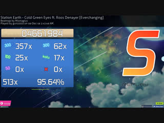 osu! - Station Earth - Cold Green Eyes ft Roos Denayer - Everchanging - FC - 0 miss
