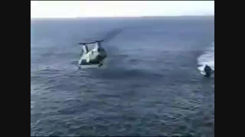 Неудачное приземление вертолета армии США.