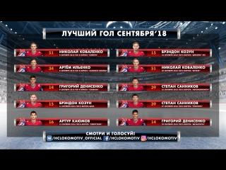 Выбери лучший гол «Локомотива» в сентябре