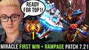 MIRACLE FIRST WIN RAMPAGE IN NEW 7 21 Patch Road to TOP 1 MMR IN NEW SEASON Dota 2