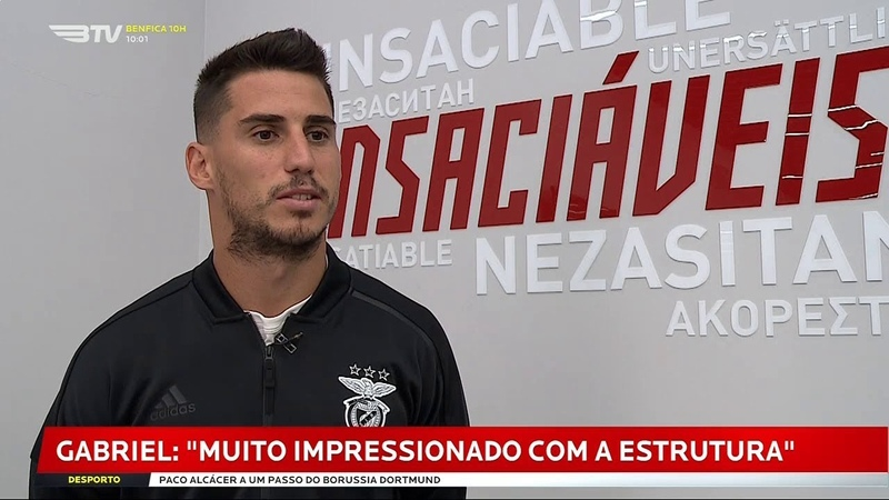 Gabriel Novo Jogador do Benfica Entrevista à BTV - 28 Agosto 2018