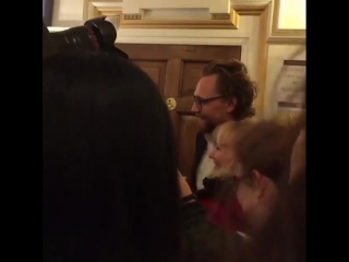 Tom Hiddleston at the The Pinter Theatre (Oct 10, 2018)
