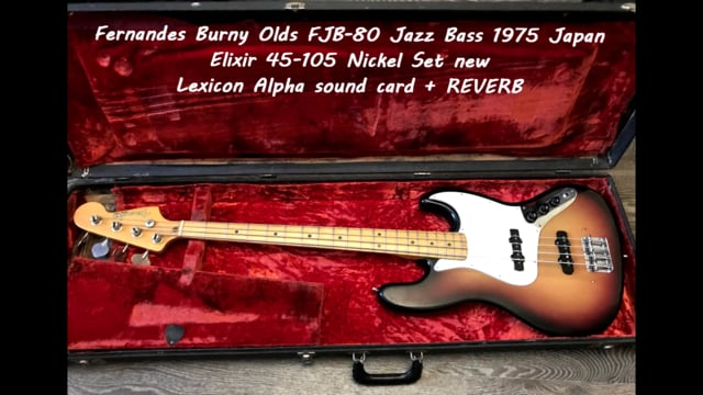Fender Jazz Bass 1974 USA vs Fernandes Burny Olds FJB-80 Jazz Bass 1975 Japan