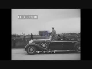 Hitler speaks and opens autobahn,1937