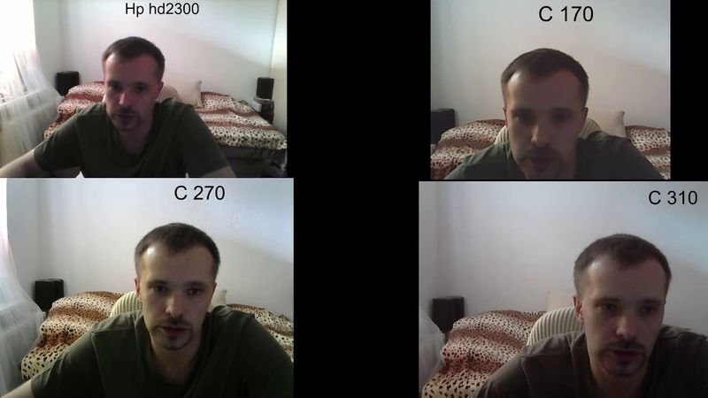 сравнение камер hp hd2300 logitech C170 C270 C310