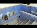 Отделка бассейна мозаикой готова