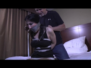 BoundHub - Raven tied up in the bed
