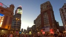 WALKING MADRID'S GRAN VIA AT NIGHT incl Sol and Plaza de España Spain