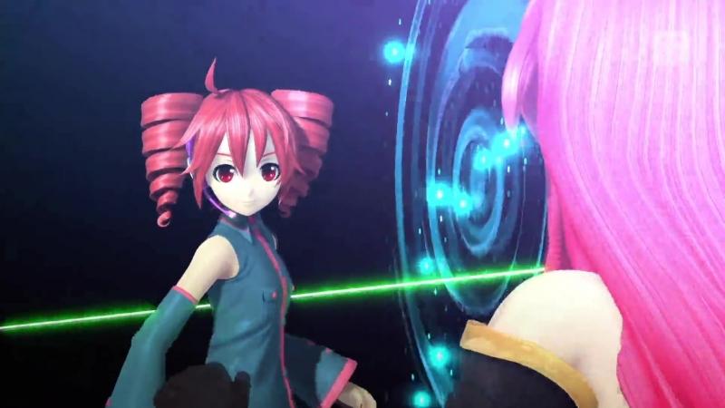[her voice] Kasane Teto Namine Ritsu - Akatsuki Arrival - Project Diva Future Tone