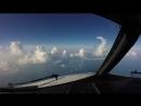 Посадка в Сочи вид из кабины пилота B737NG посадка в Сочи