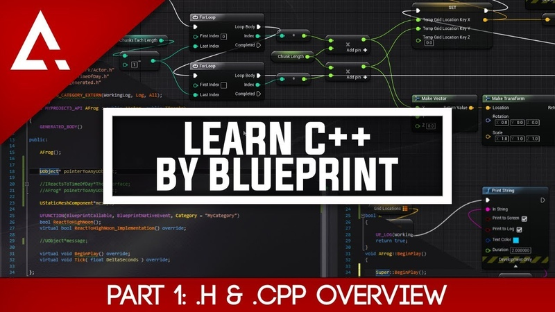 [UE4] Learn C By Blueprint - Part 1 .h .cpp Overview