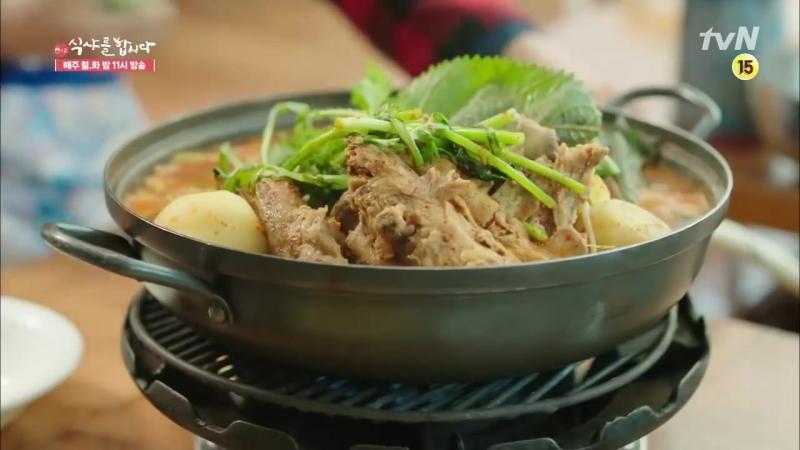 7 Lets Eat 2 Yoon Du-jun and Kim Hee-wons foodshow of Kamjatang! Lets Eat 2 Ep3