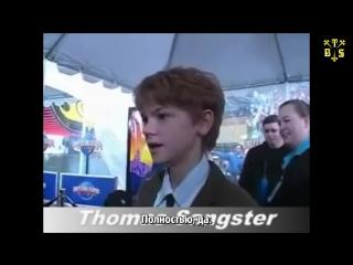 [TBSubs] Интервью к фильму Nanny McPhee с Томасом (рус.саб)